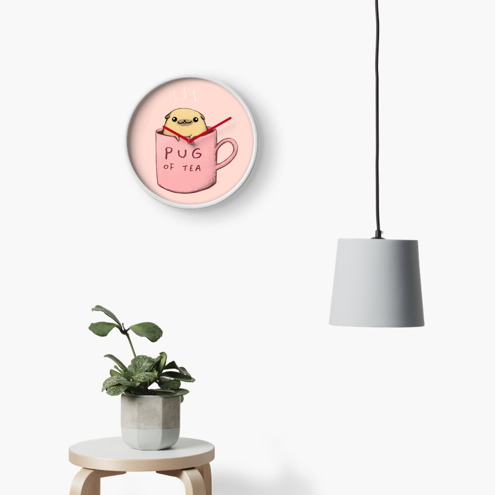 Pug of Tea Clock