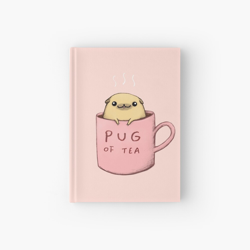 Pug of Tea Hardcover Journal
