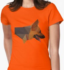 Low Poly Dog Womens Fitted T-Shirt