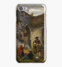 Jules Breton    CAMP GYPSIES IN THE RUINS OF THE ABBEY OF ST BAVON (GENT) iPhone Case/Skin