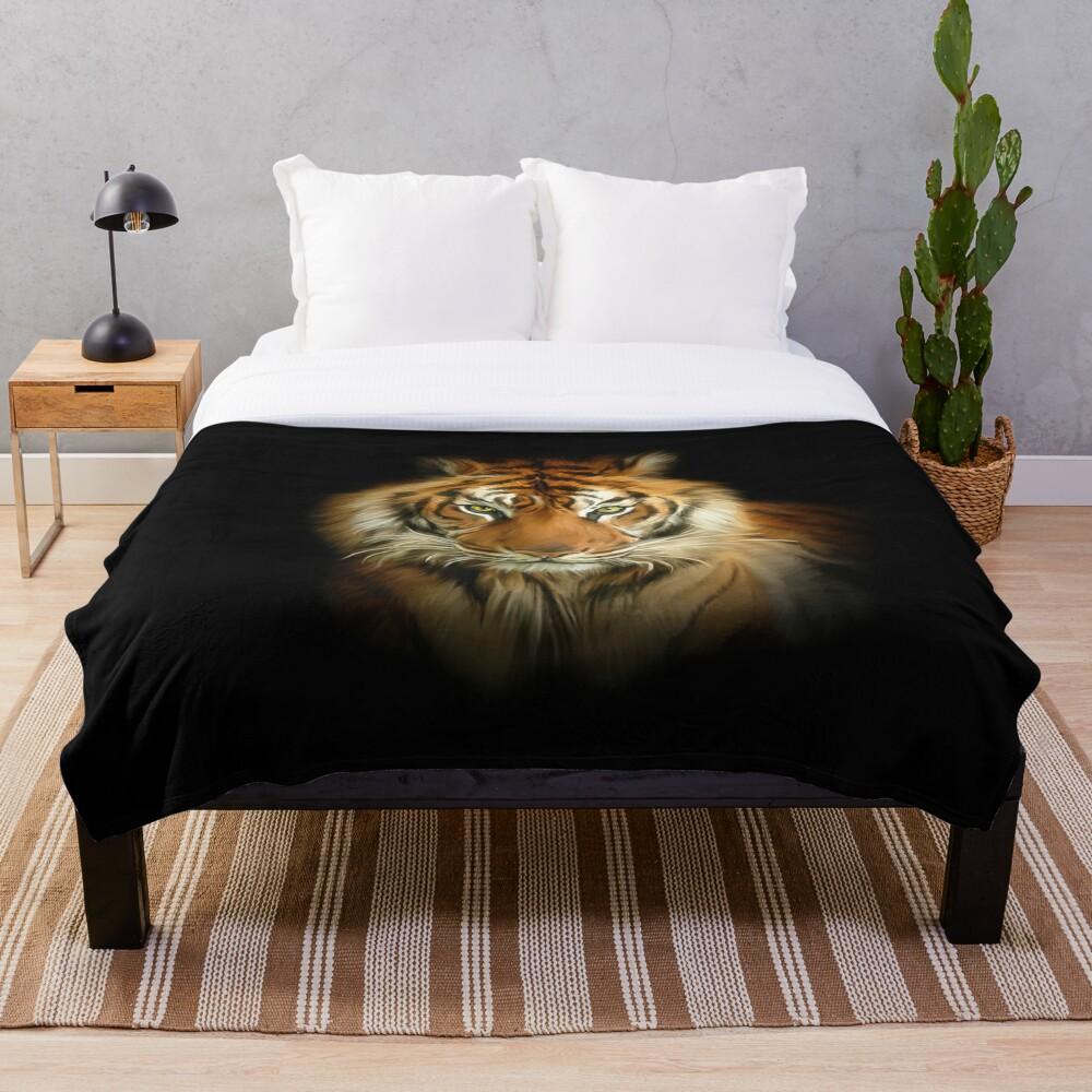 Wild Tiger Throw Blanket