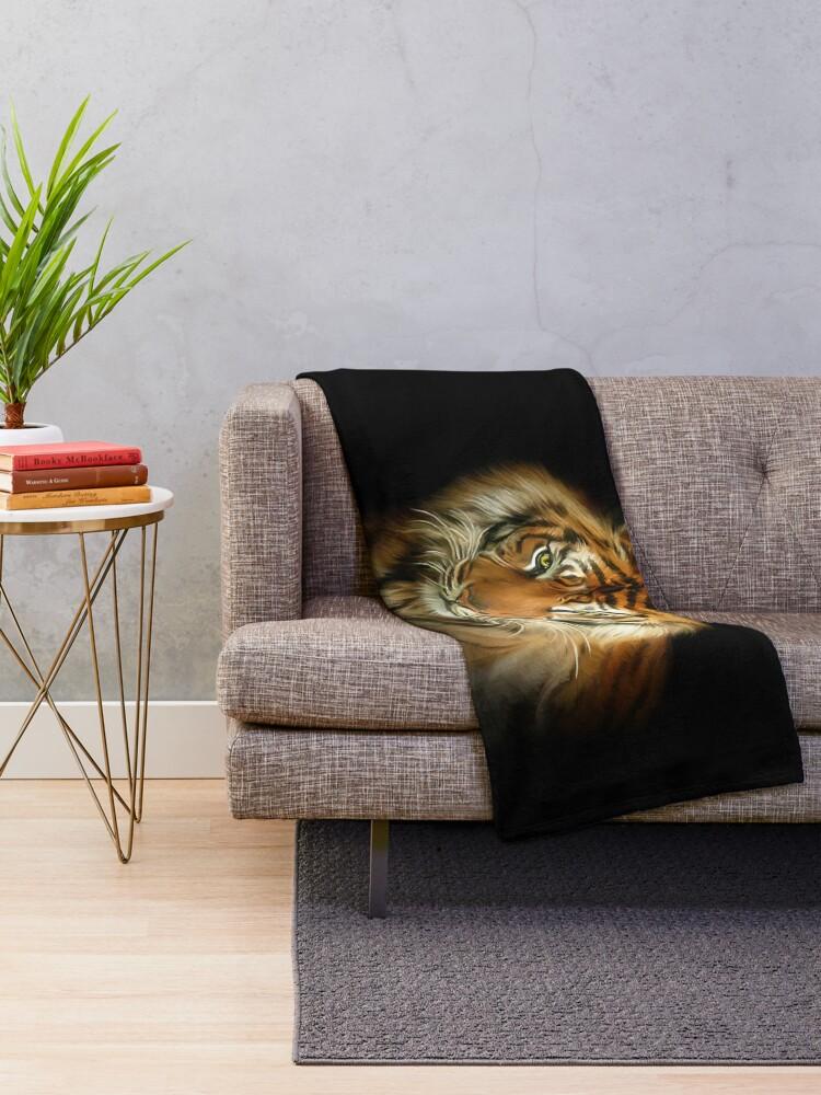 Alternate view of Wild Tiger Throw Blanket
