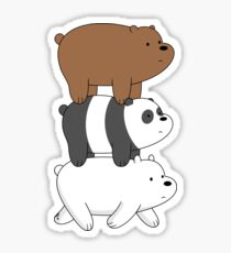 We Bare Bears - Bear Stack Sticker