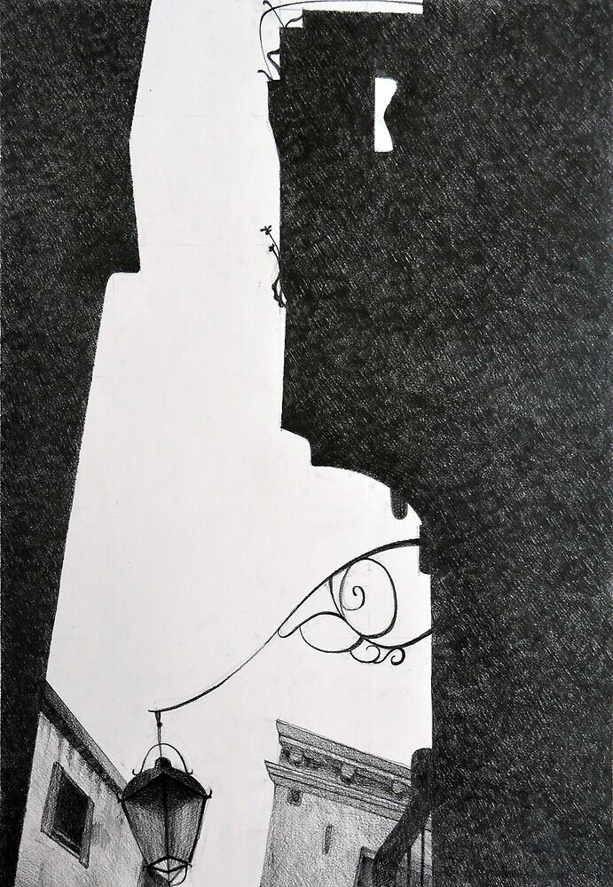 Shadow in Venice, 2011, 50-70, grafit on paper by oanaunciuleanu