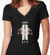 BTS&ARMY: Beyond The Scene (No Background) Women's Fitted V-Neck T-Shirt