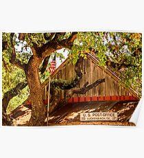 Luckenbach Texas Post Office Poster