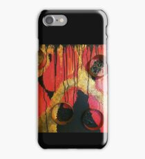 Abstract Pink, Gold, & Black  iPhone Case/Skin