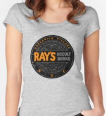 Ghostbusters - Rays Occult Books Women's Fitted Scoop T-Shirt