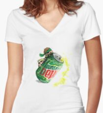 Snake & Miller on a... mountain dew. Women's Fitted V-Neck T-Shirt