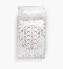 Flower of Life - Sacred Geometry - Colorful Lines Pattern Duvet Cover