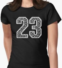 23 Cement Retro Women's Fitted T-Shirt