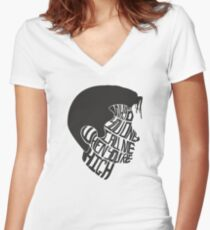 Why'd You Only Call Me When You're High Women's Fitted V-Neck T-Shirt