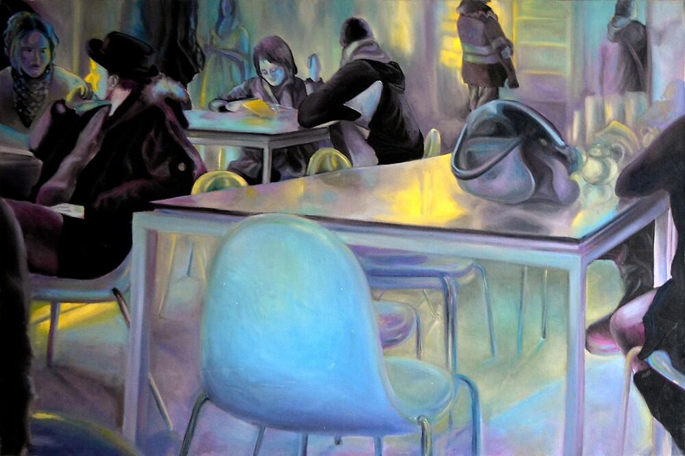 Tavern, 2011, 120-80cm, oil on canvas by oanaunciuleanu