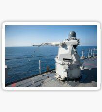 An Mk-38 machine gun system aboard USS Pearl Harbor. Sticker