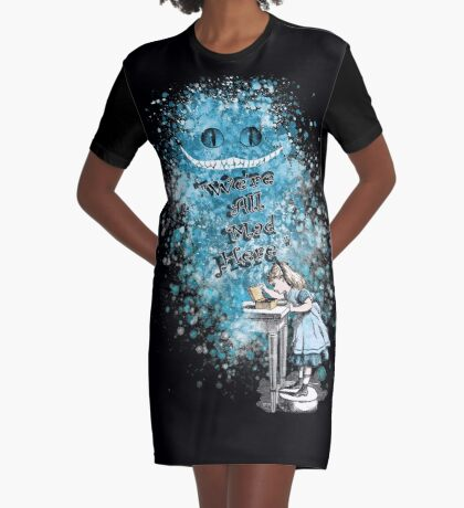 Alice Adventures In Wonderland Vestido camiseta