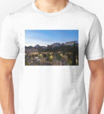 The Morning After - Empty Plaza de Santa Ana at Dawn T-Shirt