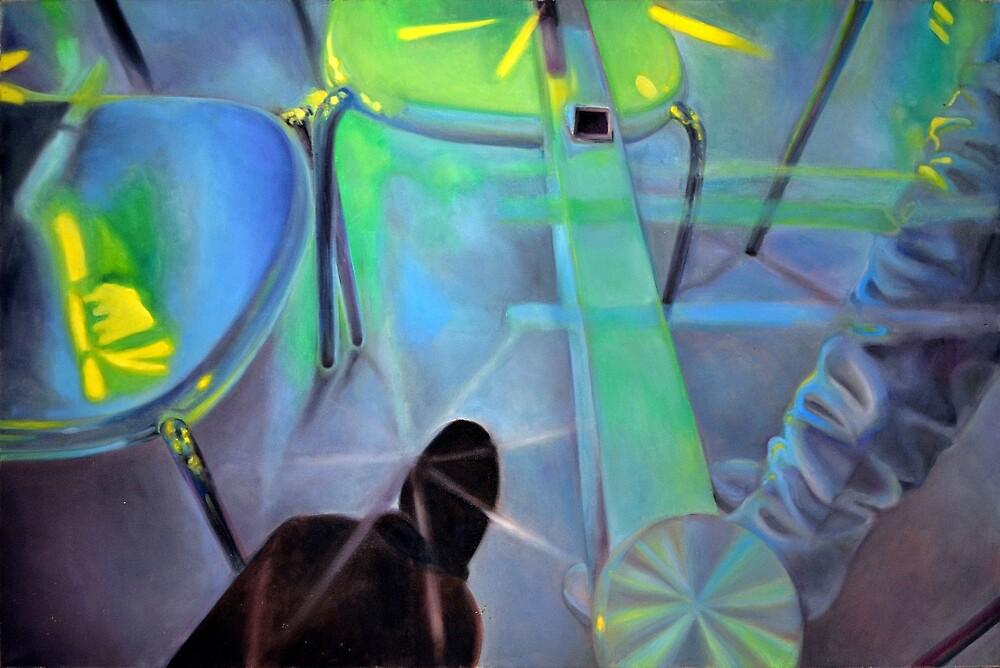 Revealing table, 2011, 120-80cm, oil on canvas by oanaunciuleanu