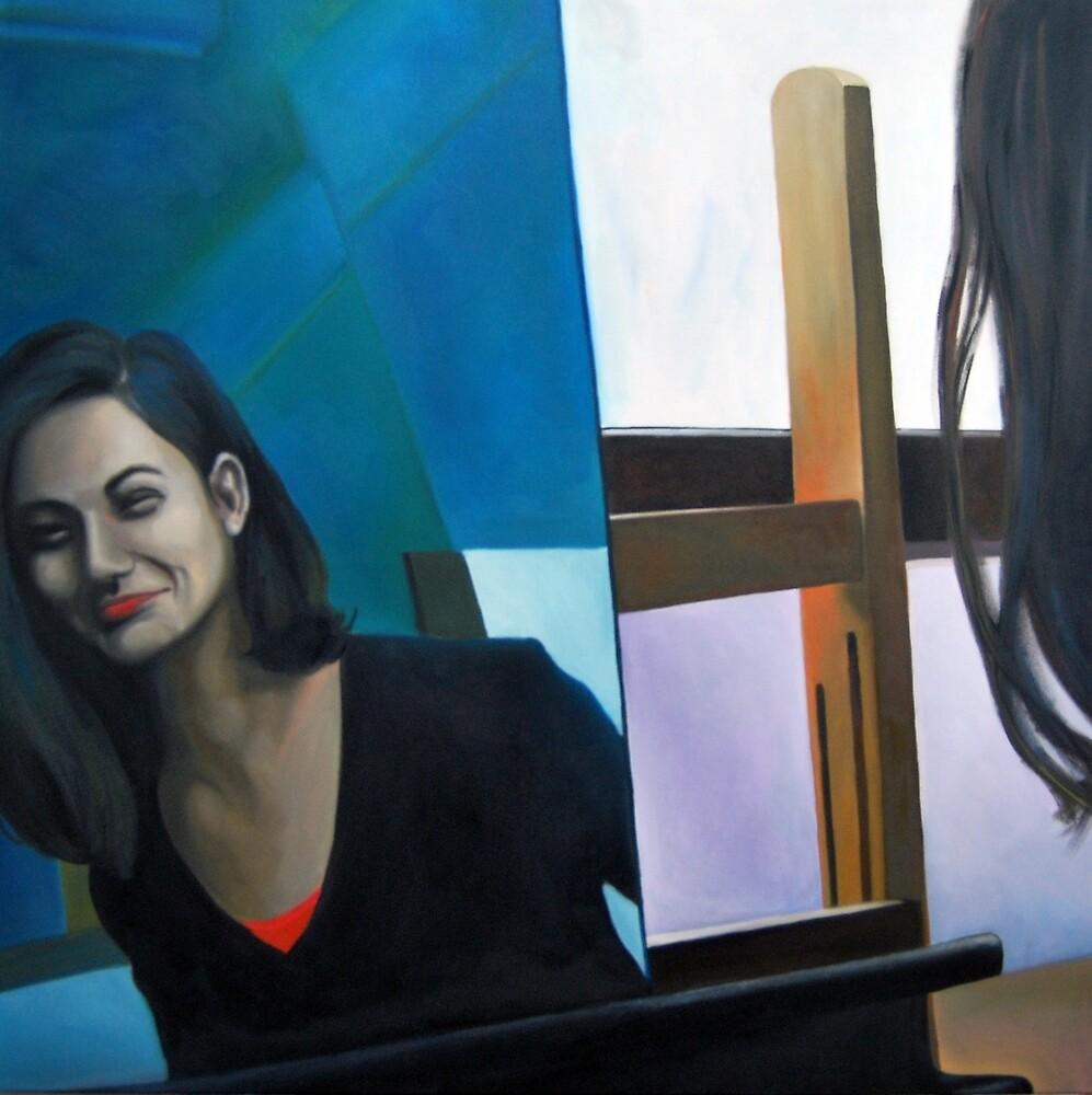 Mirror, 2011, 100-100cm, oil on canvas by oanaunciuleanu