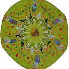 Baba Yaga Mandala  by DebiCady