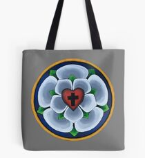 Luther's Rose Christian Seal Tote Bag