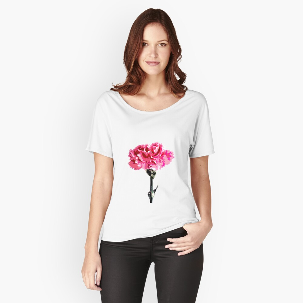 Psychedelic carnation Relaxed Fit T-Shirt