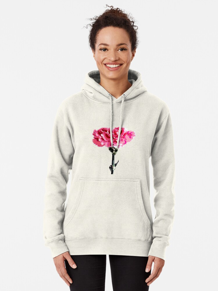 Alternate view of Psychedelic carnation Pullover Hoodie