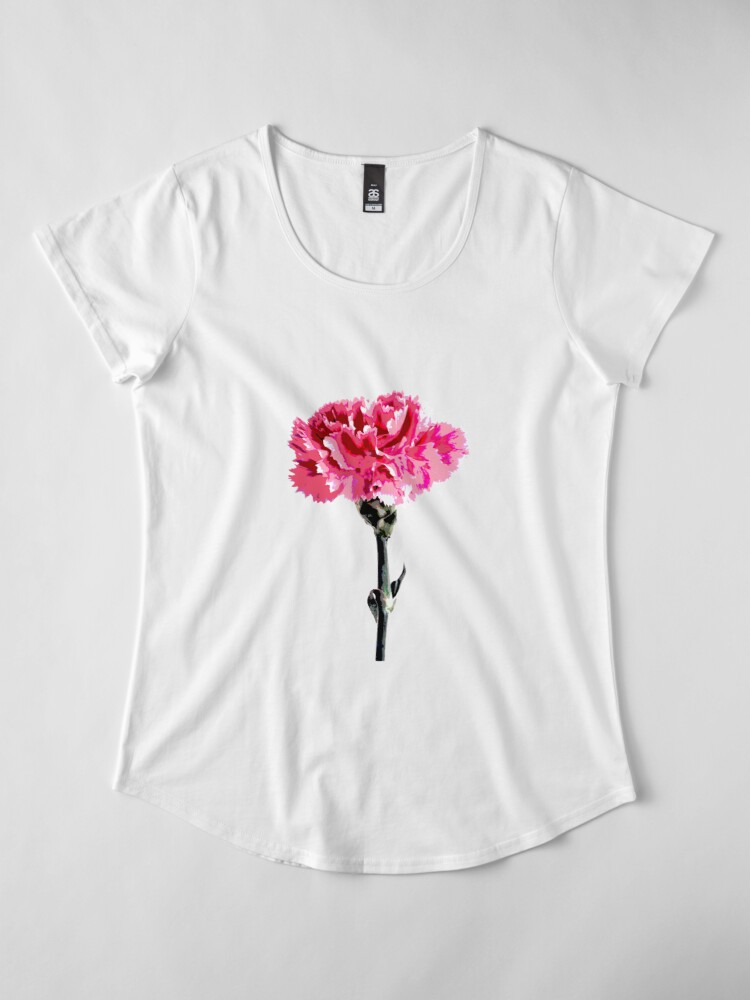 Alternate view of Psychedelic carnation Premium Scoop T-Shirt
