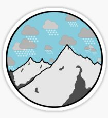 Mountain Snowfall Sticker