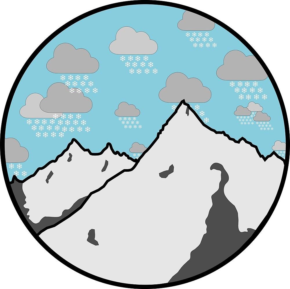 Mountain Snowfall by BlaringBiplane
