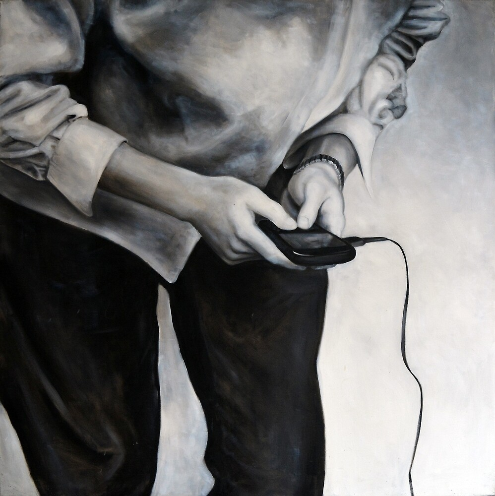 blackberry, 2011, 100-100cm, oil on canvas by oanaunciuleanu
