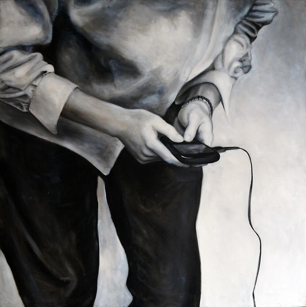 blackberry, 2011, 100-100cm, oil on canvas by oanaunciuleanu