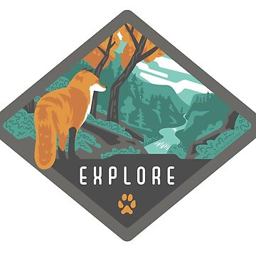 Explore - Fox in the Wilderness by BlueAsterStudio