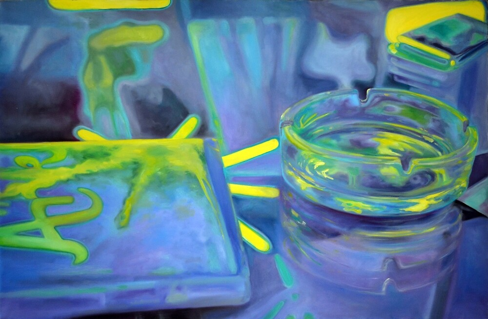 Ashtray, 2011, 120-80cm, oil on canvas by oanaunciuleanu