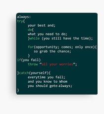 Geek Coder Canvas Print