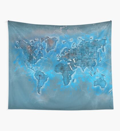 world map 109 #worldmap #world #map Wall Tapestry