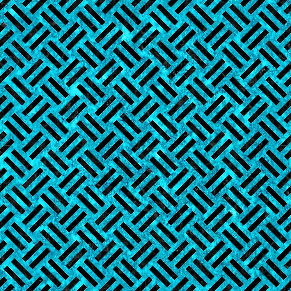WOVEN2 BLACK MARBLE AND TURQUOISE MARBLE (R) by johnhunternance