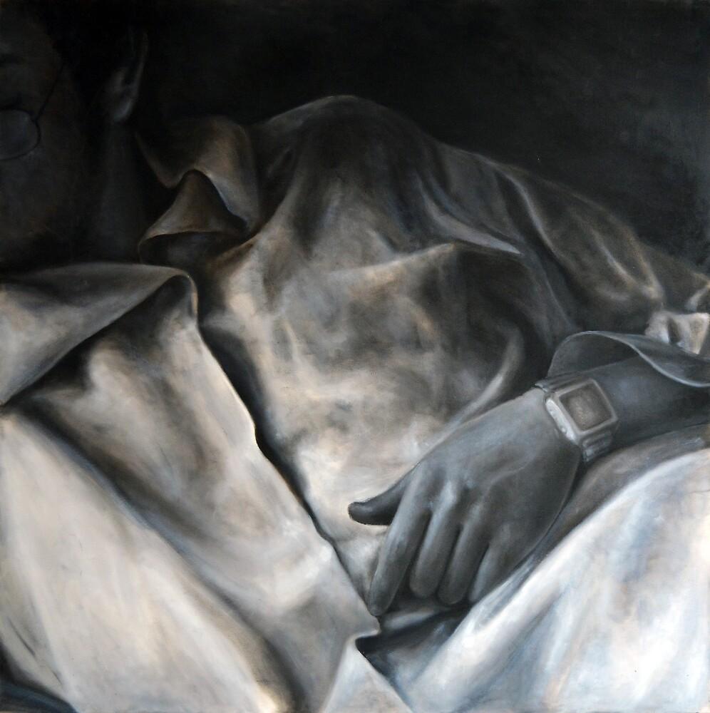 Shirt, 2010, 100-100cm, oil on canvas by oanaunciuleanu