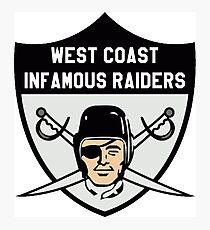 Raiders West Coast gangsta LA Los Ángeles football Photographic Print