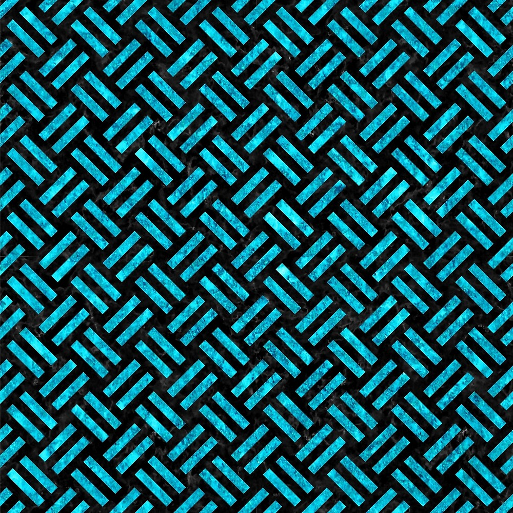 WOVEN2 BLACK MARBLE AND TURQUOISE MARBLE by johnhunternance