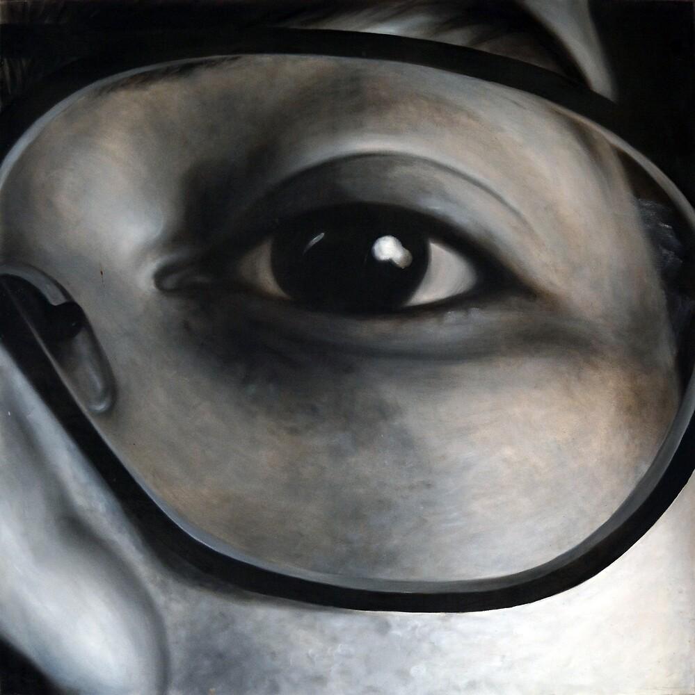 Lens, 100-100cm, 2010, oil on canvas by oanaunciuleanu