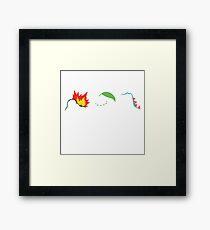 Johto Starters Framed Print