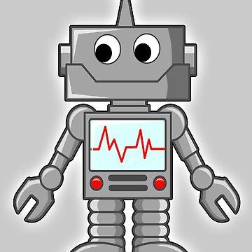 ROBOT, Cartoon, Smiley, Robotics, Toon, by TOMSREDBUBBLE