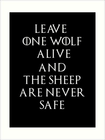 Game Of Thrones Season 7 Arya Stark Quote Kunstdrucke Von Sopheric