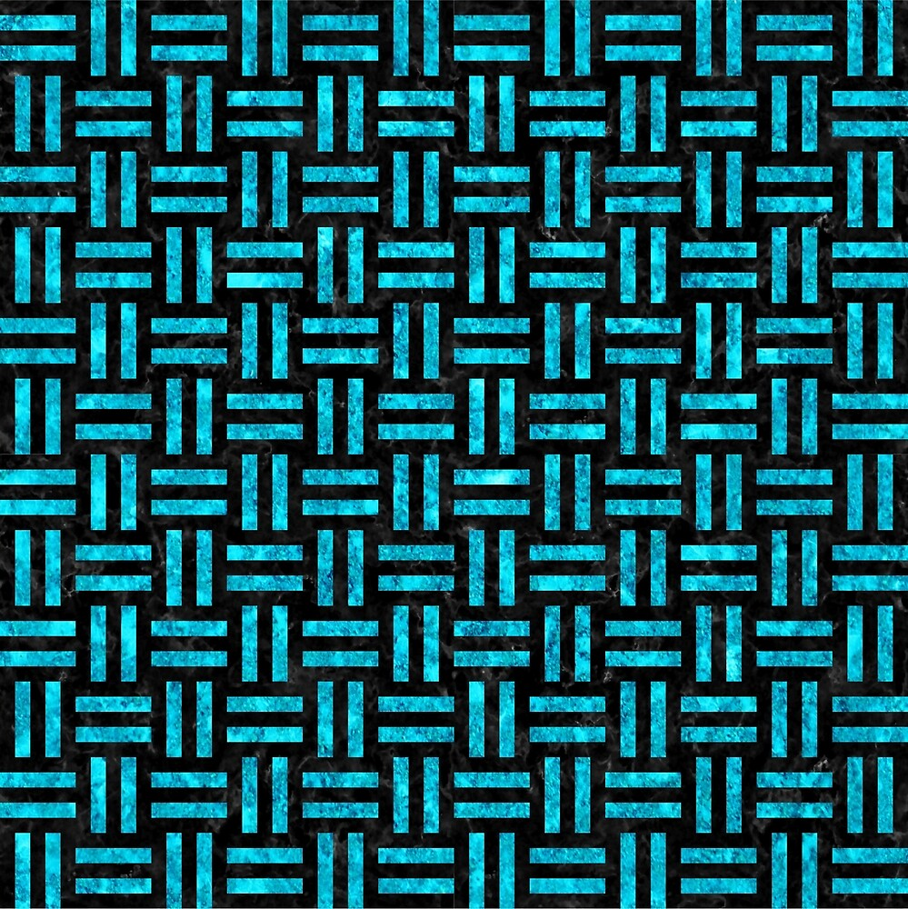 WOVEN1 BLACK MARBLE AND TURQUOISE MARBLE by johnhunternance