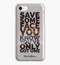 The Killers Graphic Lyrics iPhone Case/Skin