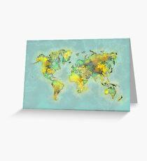 world map 112 #worldmap #world #map Greeting Card