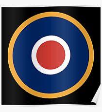 WAR, Spitfire, Bulls eye, Target, Archery, Plane, Aircraft, Flight, Wing, on black Poster