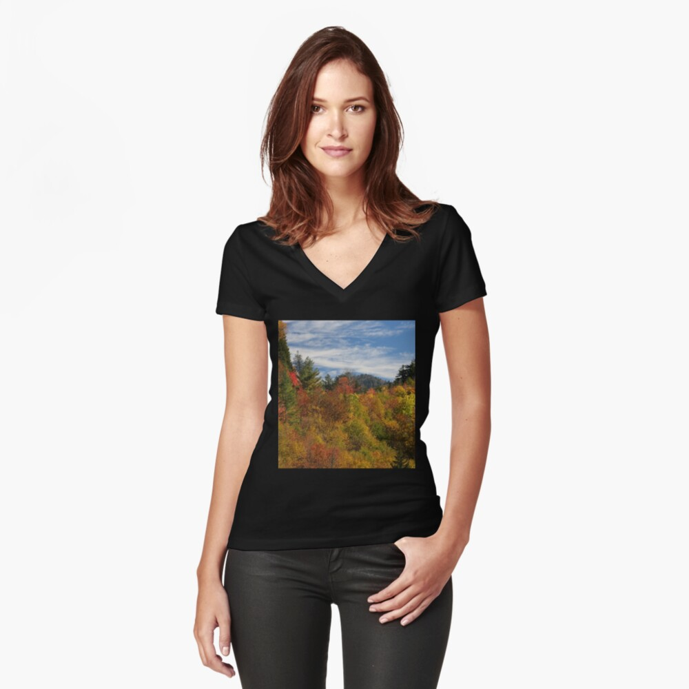 Fabulous Fall II Women's Fitted V-Neck T-Shirt Front