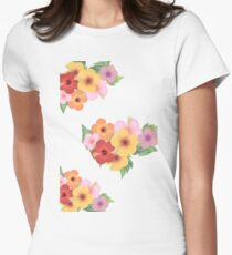 Hibiscus (The Rabbit Hole) Womens Fitted T-Shirt