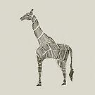 Giraffe Skizze von Hinterlund